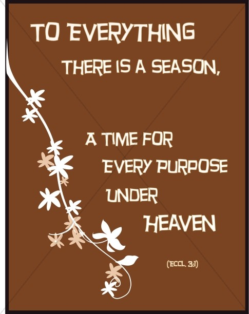 Flowers on Brown with Ecclesiastes