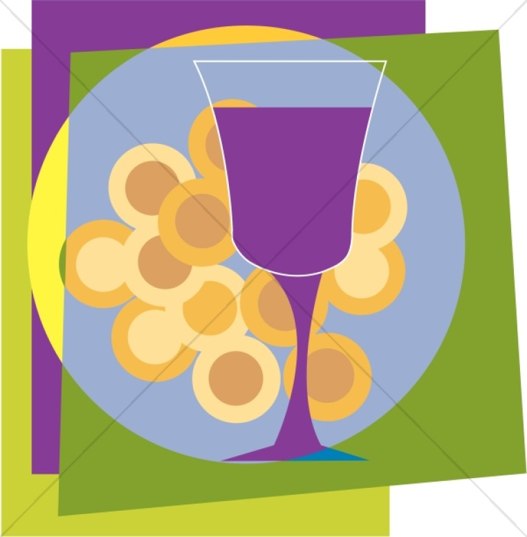 Colorful Communion Wafers and Cup