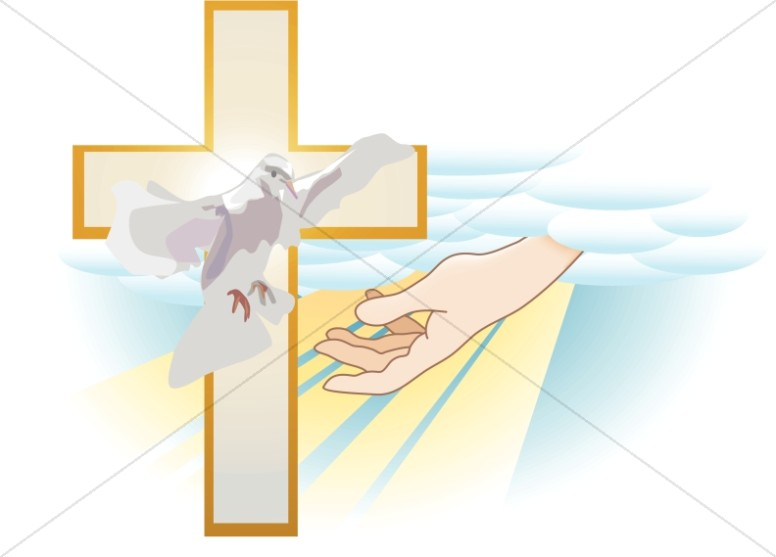 Hand of God with Cross and Dove