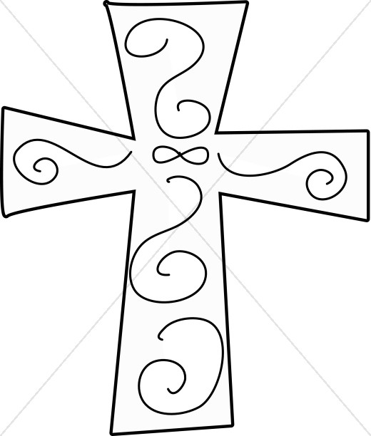 black and white swirl cross cross clipart rh sharefaith com cross clipart images cross clipart in color