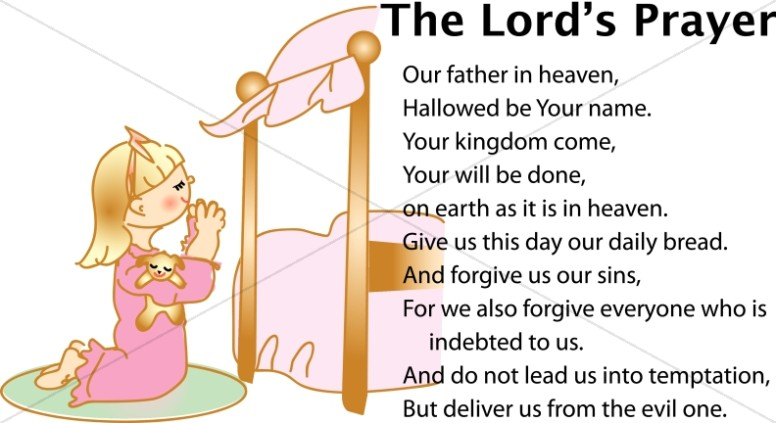 Girl Saying the Lords Prayer