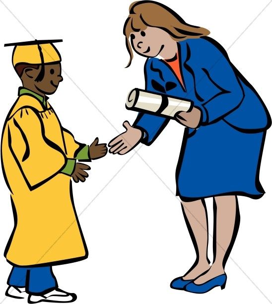 child graduate in color christian graduation clipart and images rh sharefaith com African American History Clip Art Kudos Clip Art