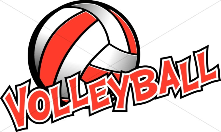 Volleyball in Red and White