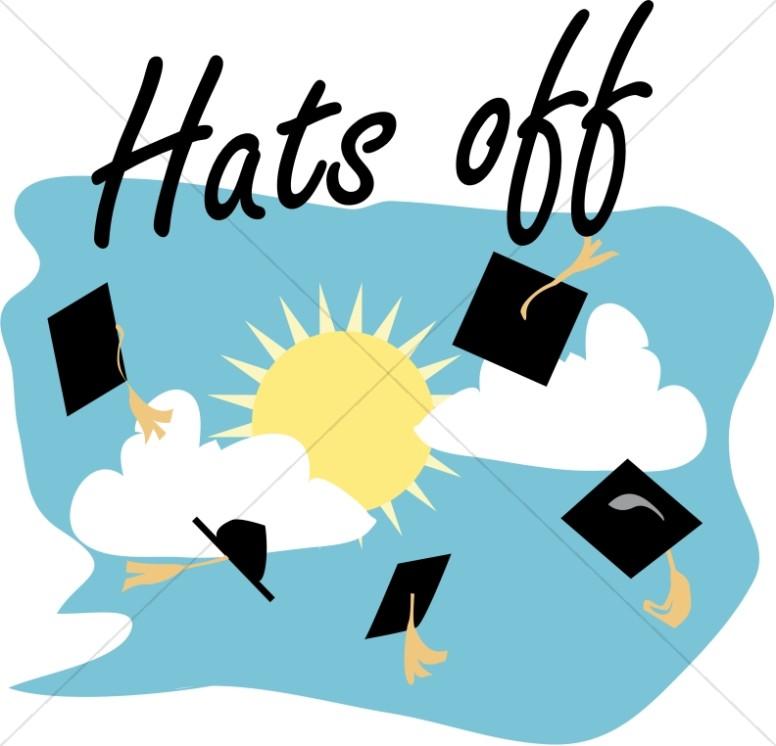 graduation caps off christian graduation clipart and images rh sharefaith com