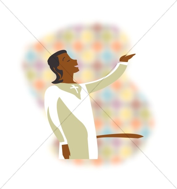 African American Choir Singer