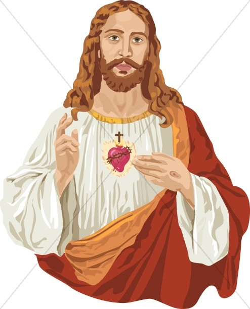 jesus christ and the sacred heart jesus clipart rh sharefaith com clip art of jesus on the cross with mary clipart of jesus christ