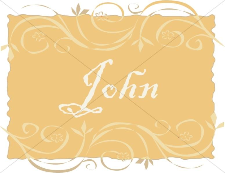 John in a Frame