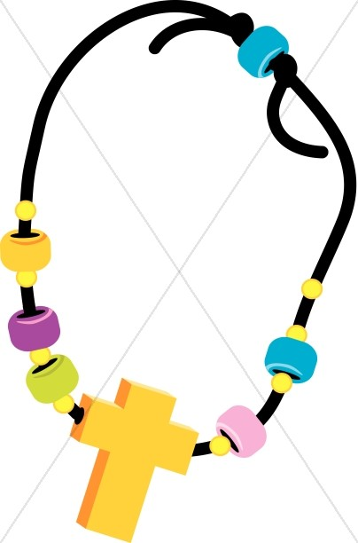 Cross and Beads Necklace