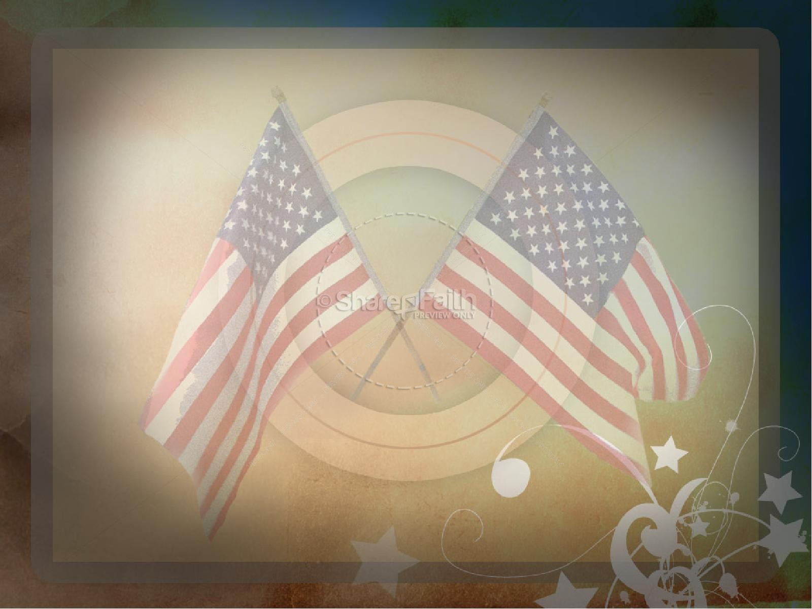 Patriotic American Flag | slide 2