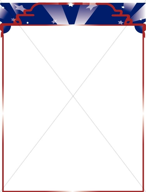 Patriotic Border with Stars