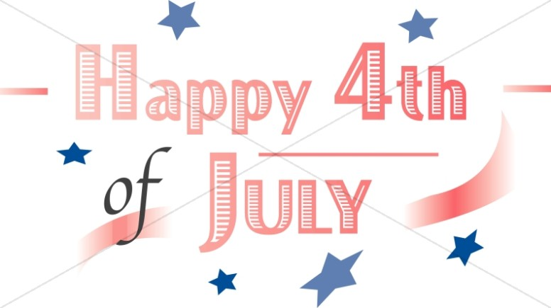 Happy Fourth Word Art