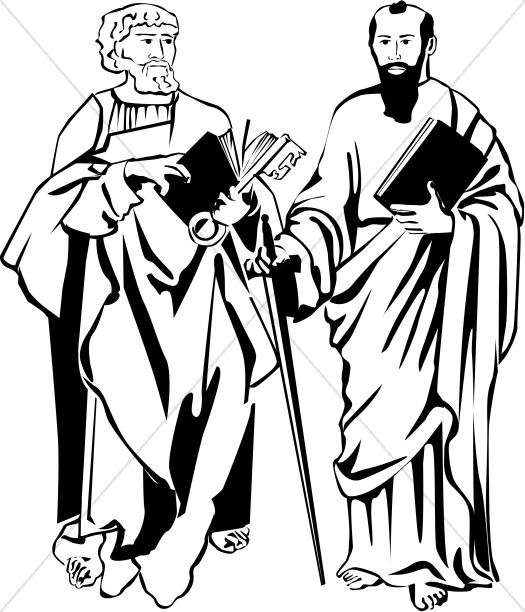 St. Peter and St. Paul in Black and White