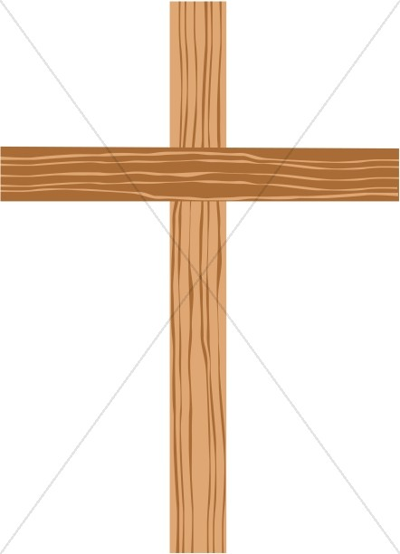 Cross brown. Wooden with shades of