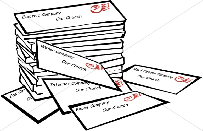 Stack of Church Bills