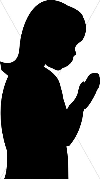 Girl Silhouette Praying