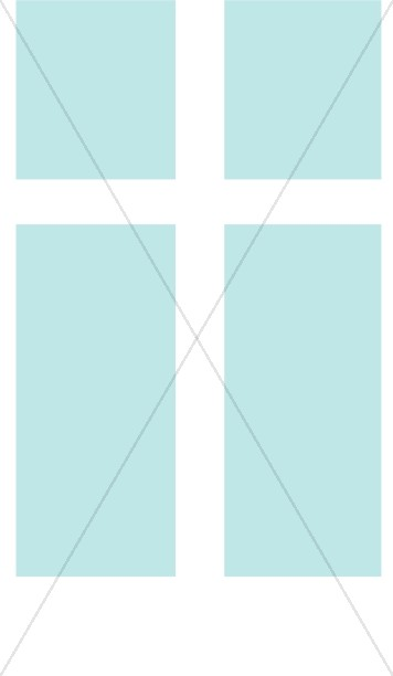 White Cross on Light Blue