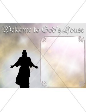 Jesus and Welcome Background