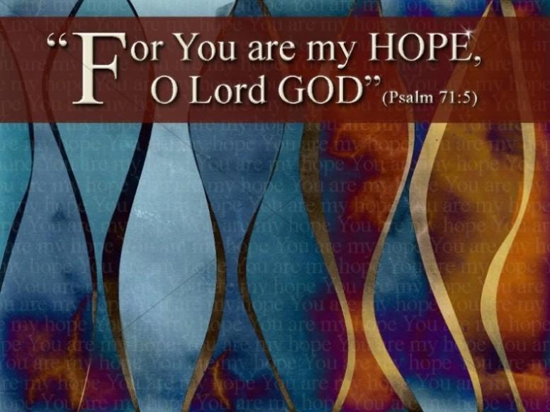 Hope in God Background