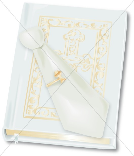 Holy Bible and Communion Tie