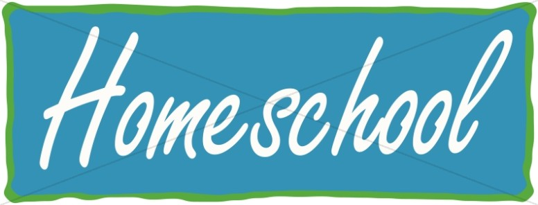 Homeschool Banner in Blue