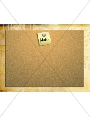 Cork Board for Notes