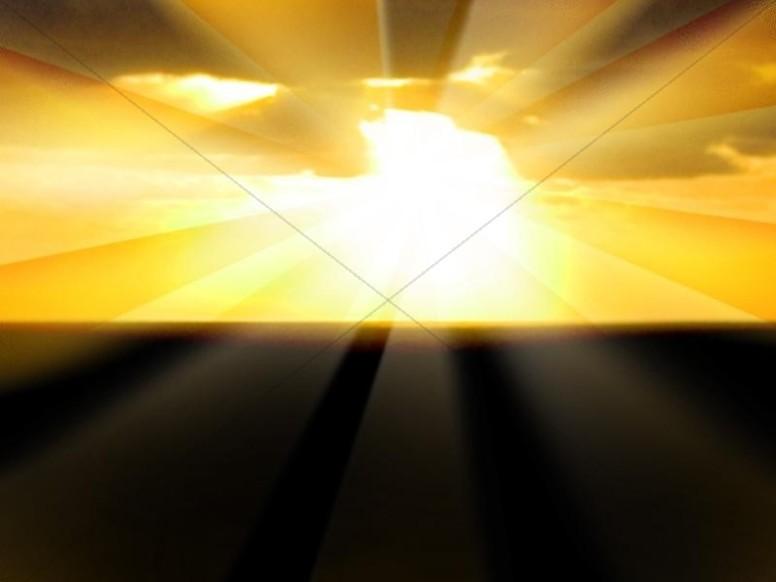 Sunrise with Big Rays