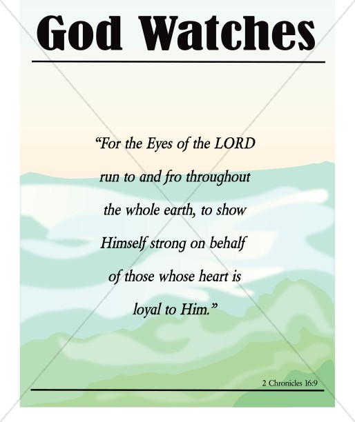 God Watches Bulletin Cover