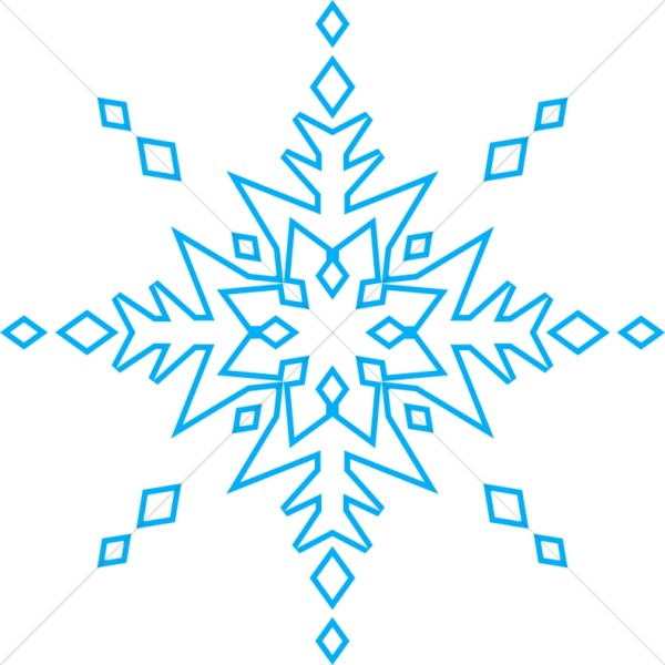 Blue Ice Crystal Snowflake