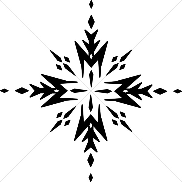 Black and White Arrow Snowflake