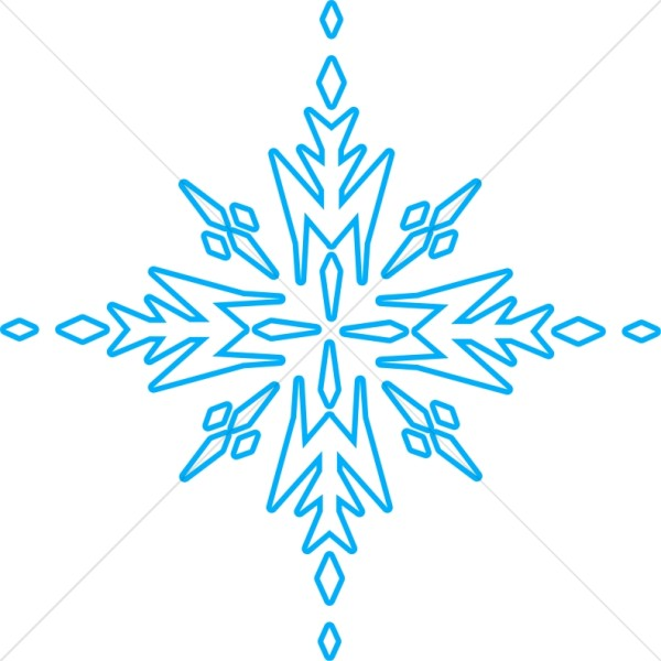 Blue Arrow Snowflake