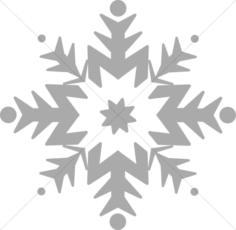 Snowflake in Gray Scale