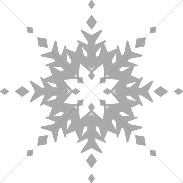 Muted Gray Snowflake