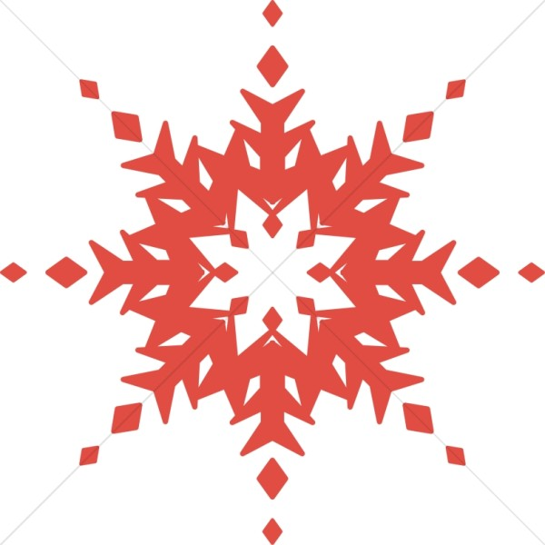 Condensed Red Snowflake