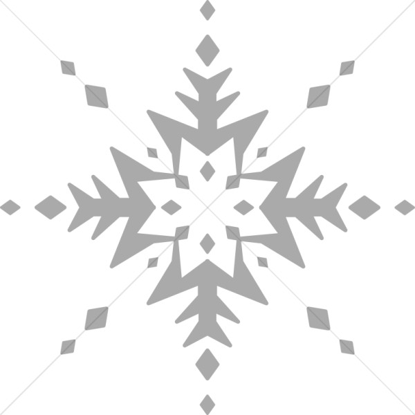 Unique Grayscale Snowflake