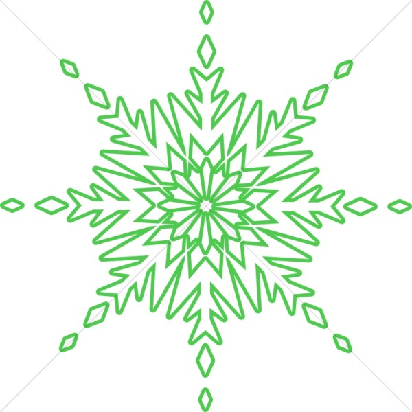 Green Circle Snowflake