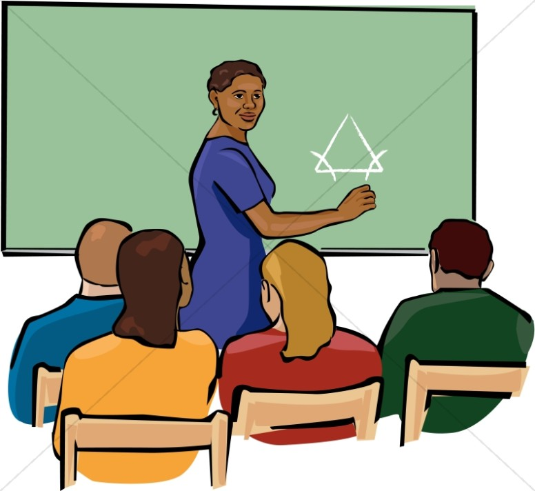 African American Teacher Clipart in Color