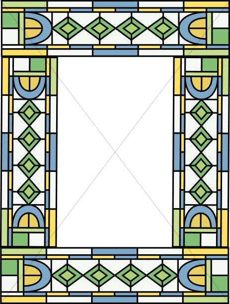 Stained Glass Religious Border