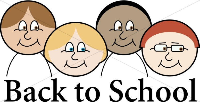 Back to School Cartoon Students