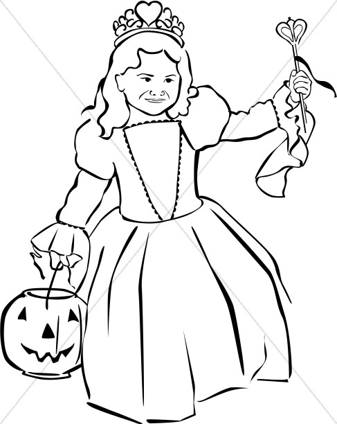 Harvest Day Princess Clipart