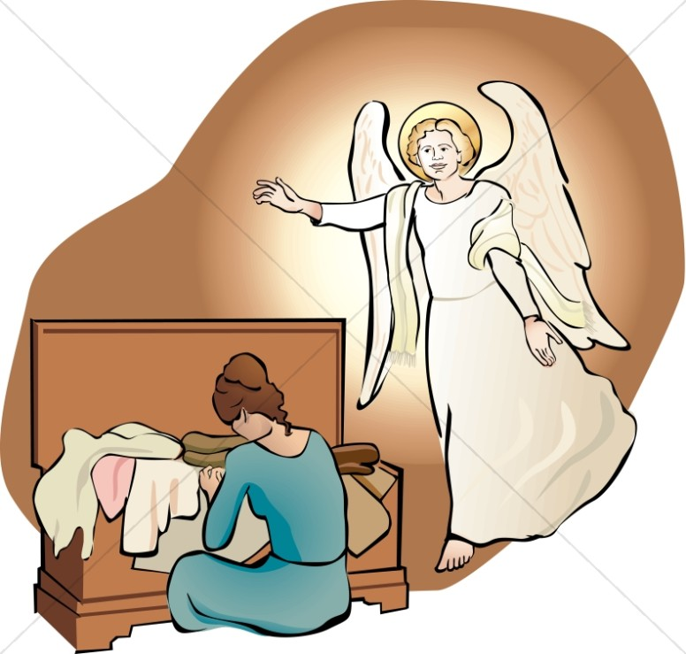 Mary and Joseph Obey God - Mary and the Annunciation Clipart