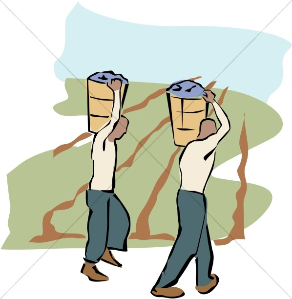 Two Field Workers Clipart
