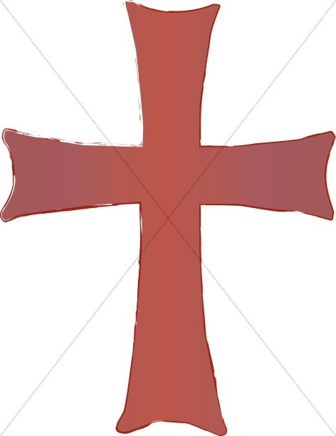 Reddish Cross Clipart
