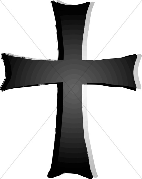 Shades of Gray Cross Clipart