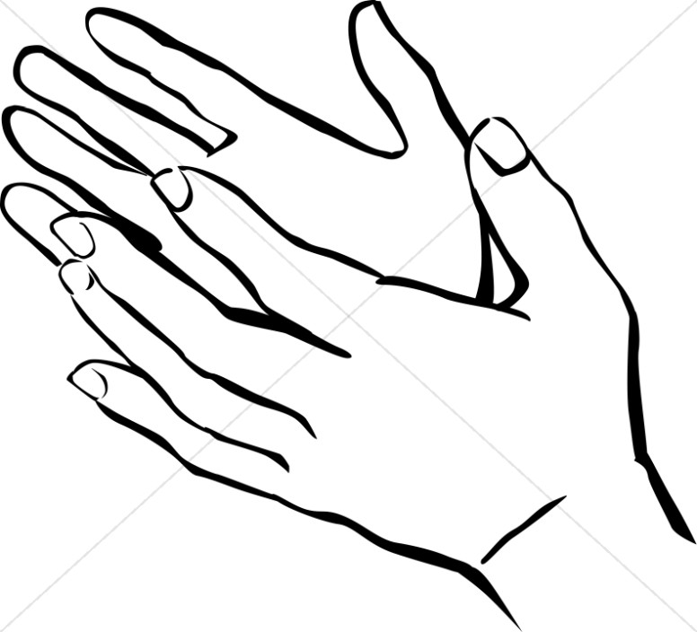 Hands Uplifted Clipart