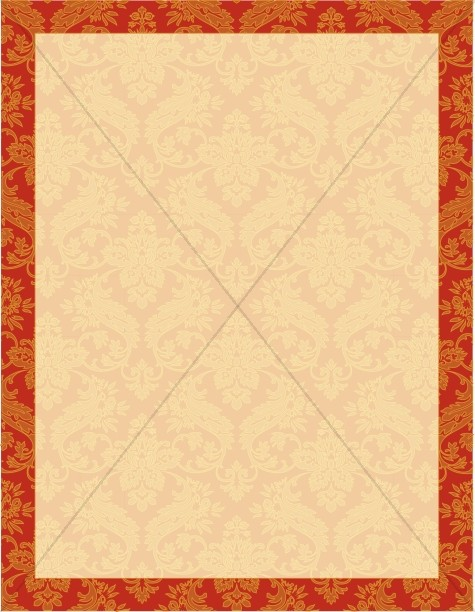 Orange Paisley Church Stationery