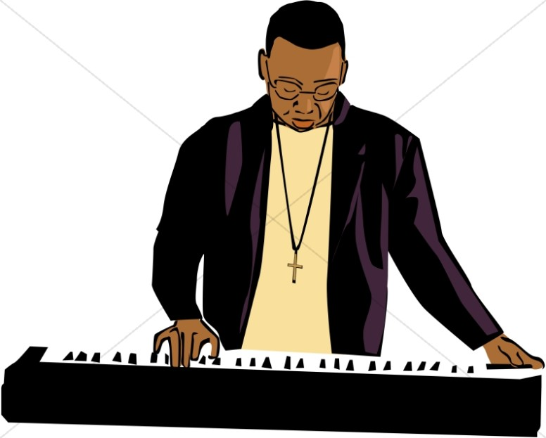 African American Keyboard Player