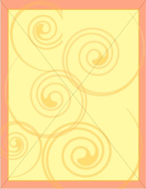 Orange and Yellow Swirls Border