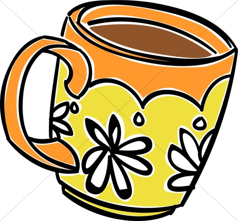 fun daisy coffee mug coffee hour clipart rh sharefaith com coffee mug clipart coffee mug clip art silhouette