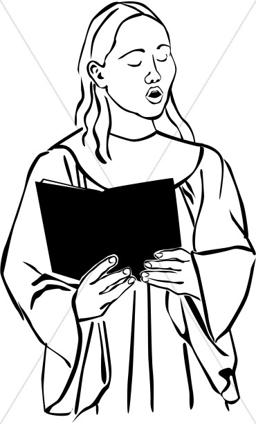 Choir Singer Clipart