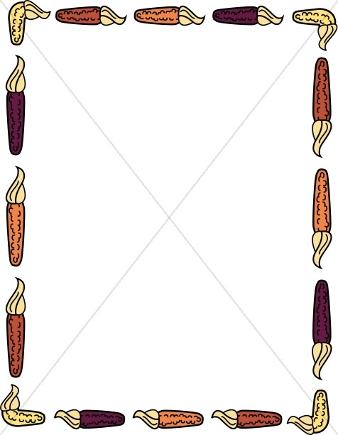Indian Corn Border